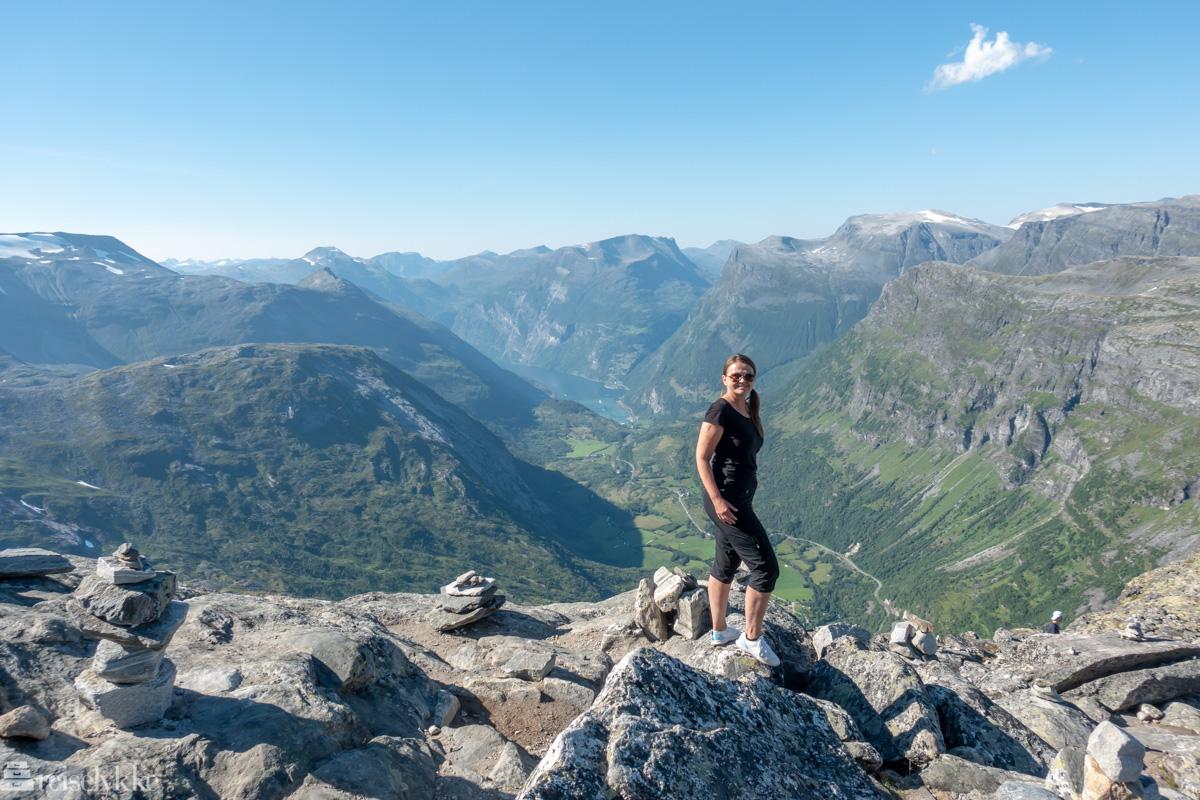 Mette på toppen av Dalsnibba