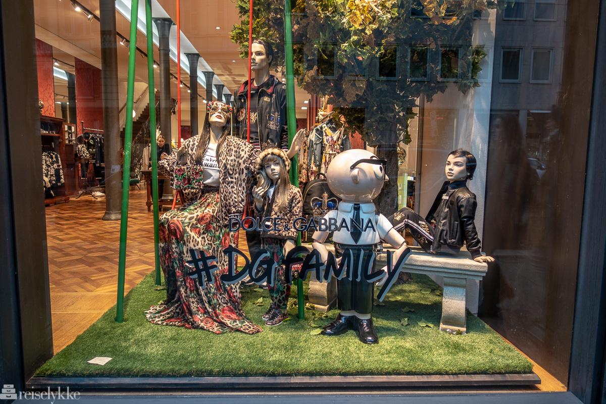 Utstillingsvindu Dolce e Gabbana Milano