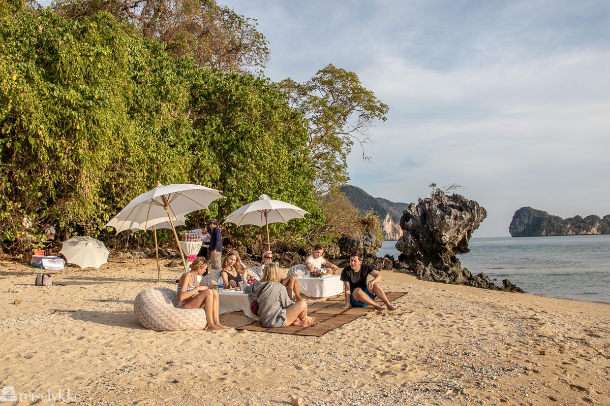 En strand for oss selv utenfor Ao Nang