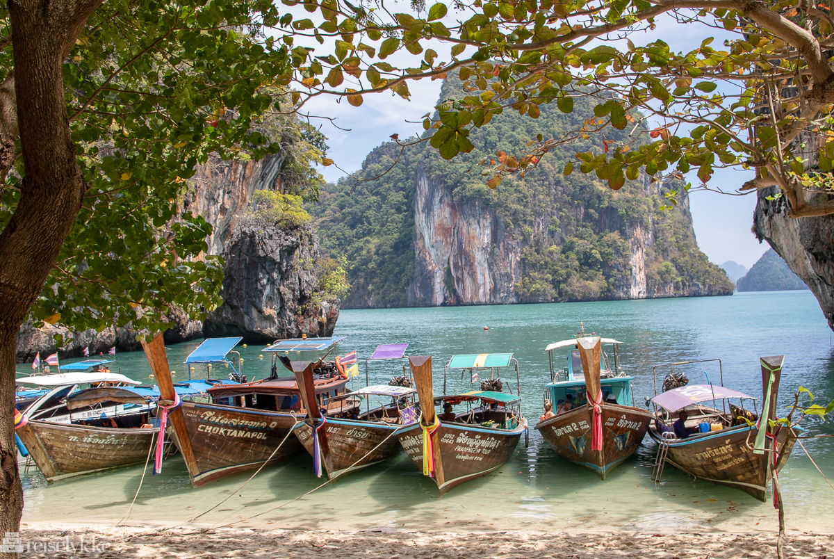 Longtailbåter i Krabi