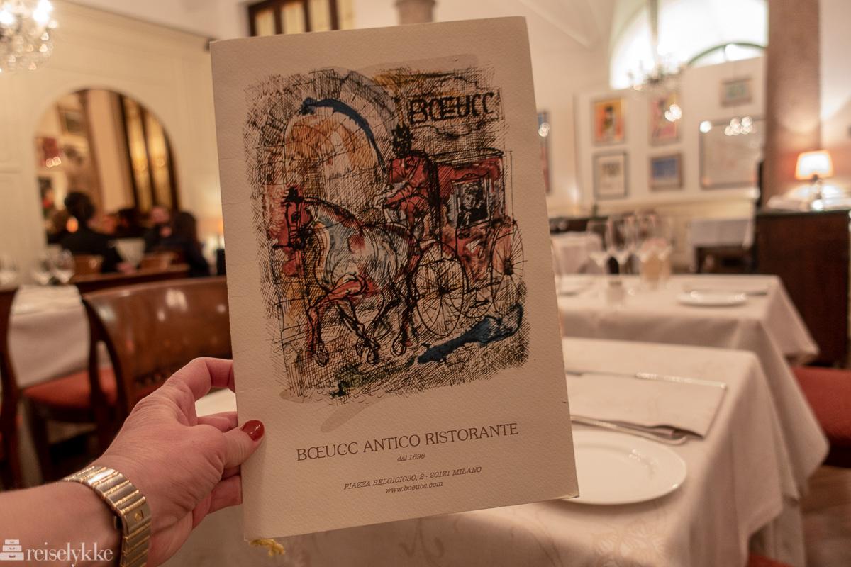 Tradisjonsrik milanese kjøkken hos Boeucc Milan_