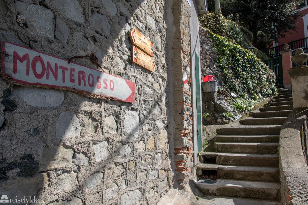 Startpunkt vandretur Levanto - Monterosso