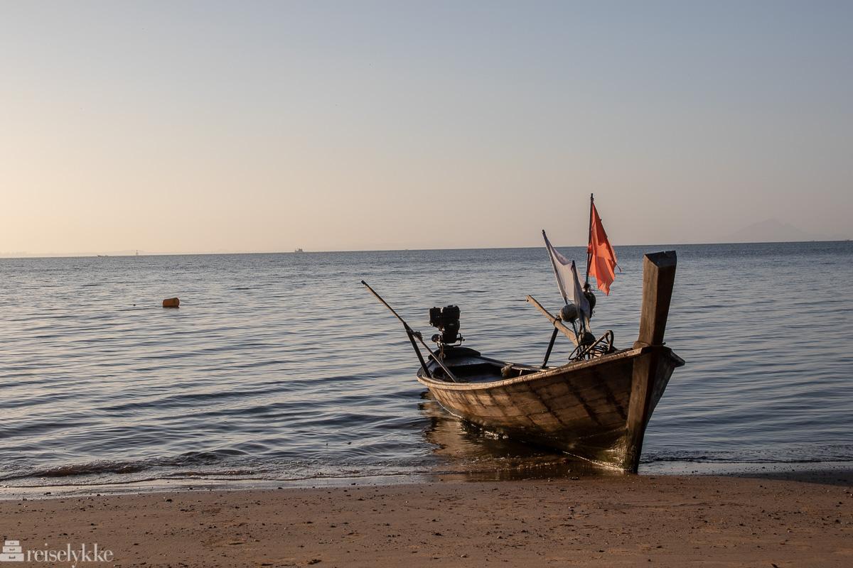 Fiskebåt i land
