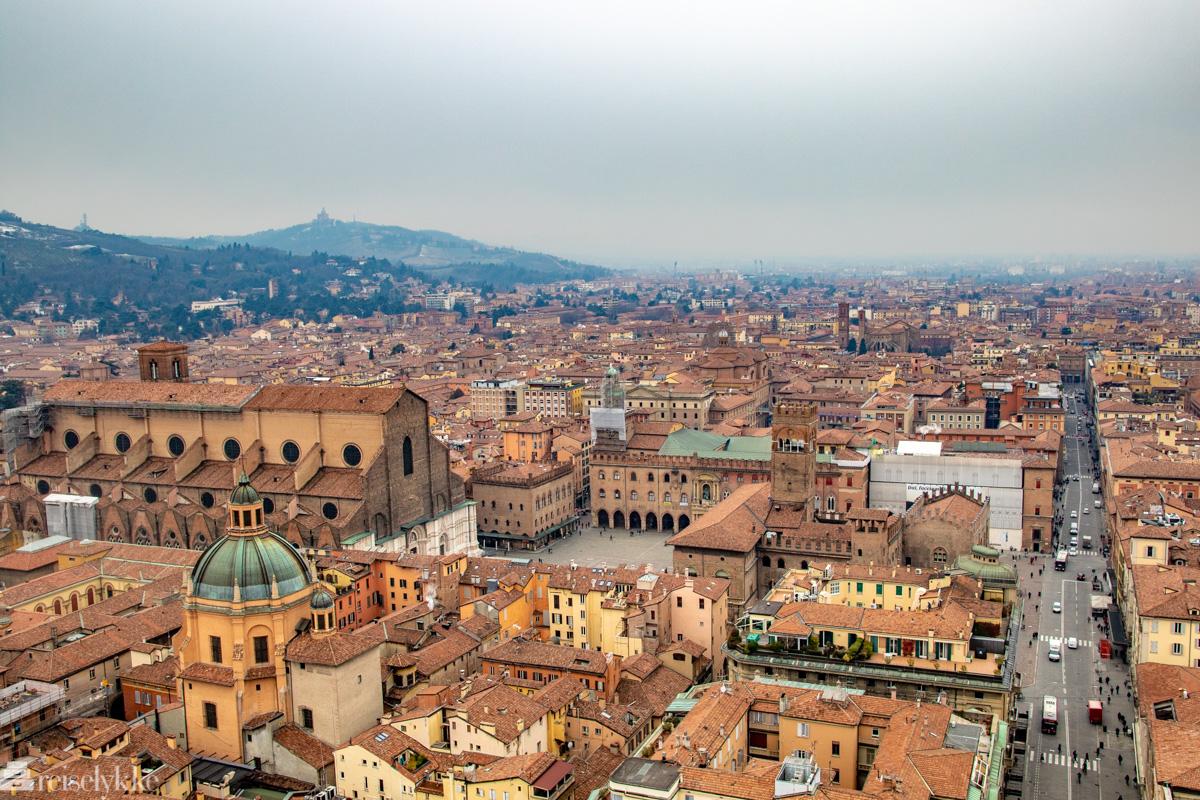 Utsikt fra Asinelli-tårnet