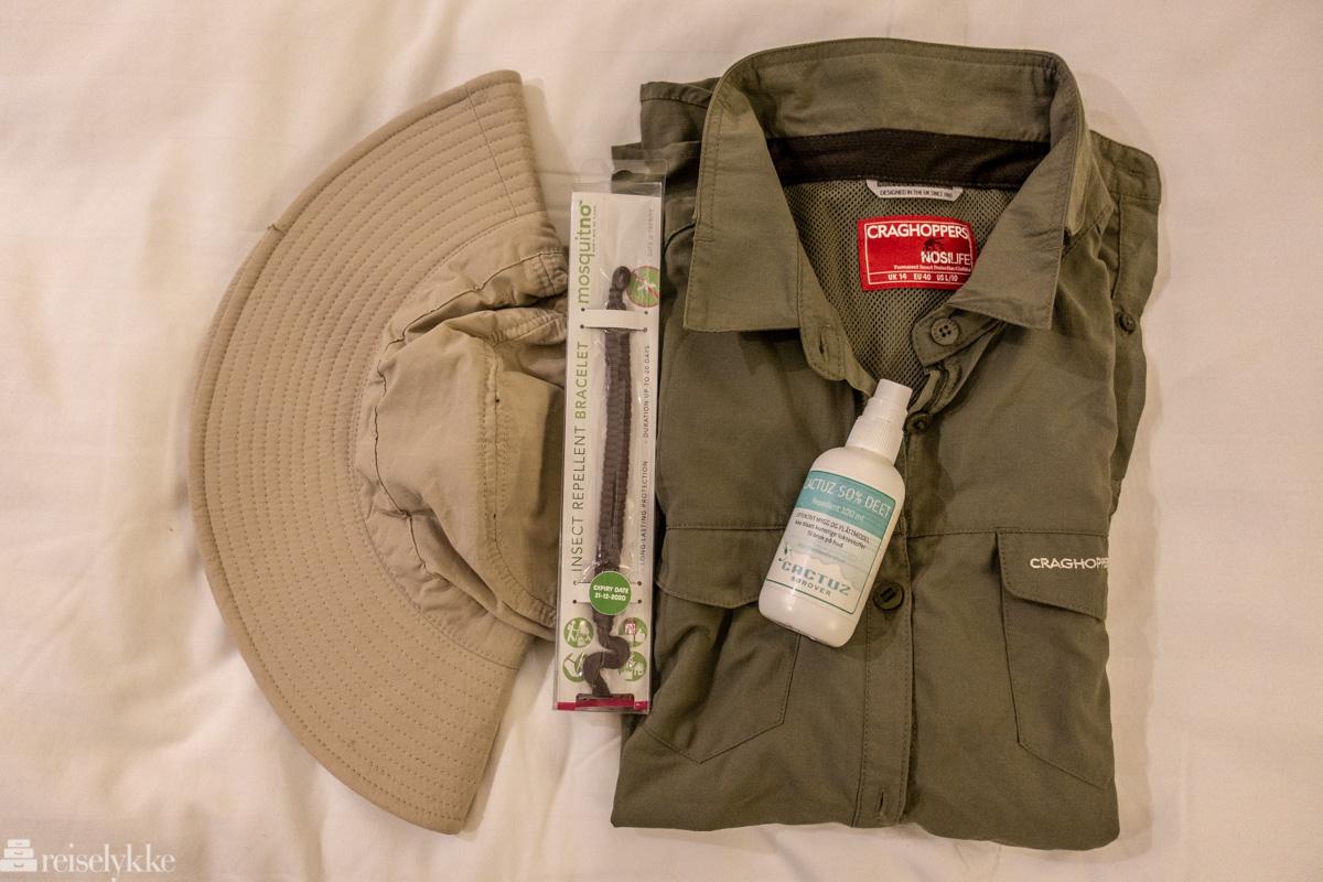 Anti-mygg produkter for eksotiske reiser