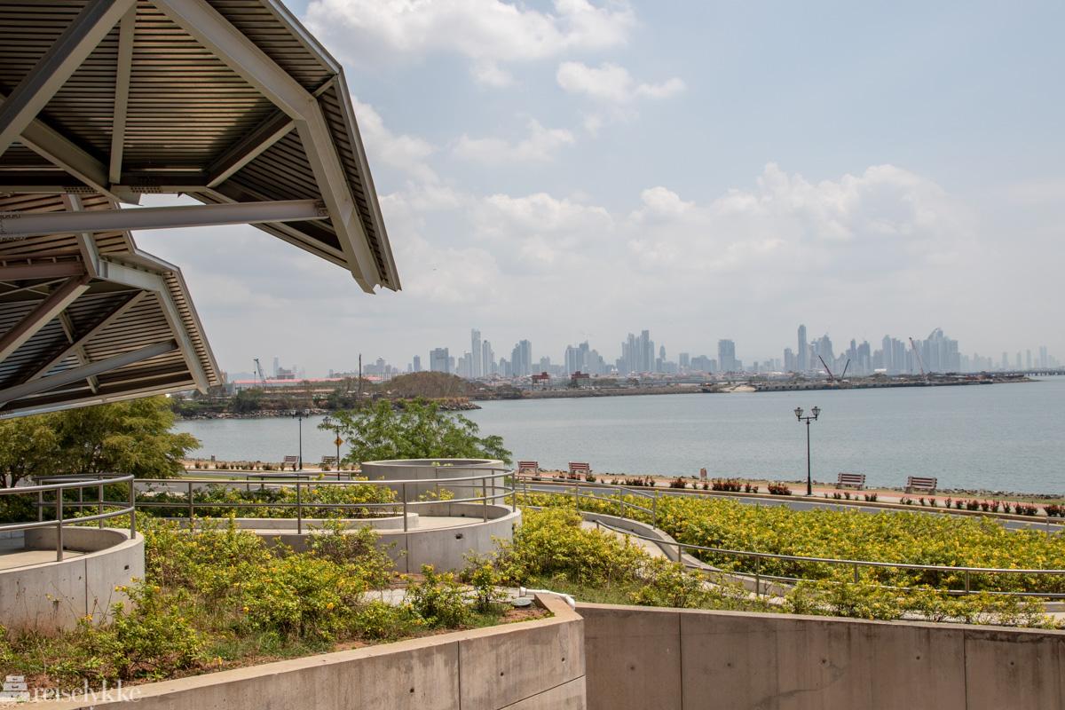 utsikt fra biomuseo mot panama by