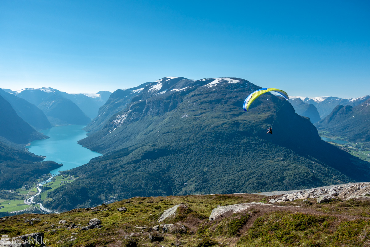Paragliding over Loen
