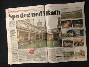 Reiseartikkel om Bath i VG. Tekst og foto Mette Solberg Fjeldheim, Reiselykke
