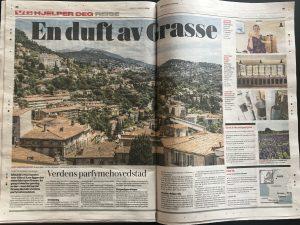 Reiseartikkel om Grasse i VG, skrevet av Mette Solberg Fjeldheim, levert av Reiselykke Media