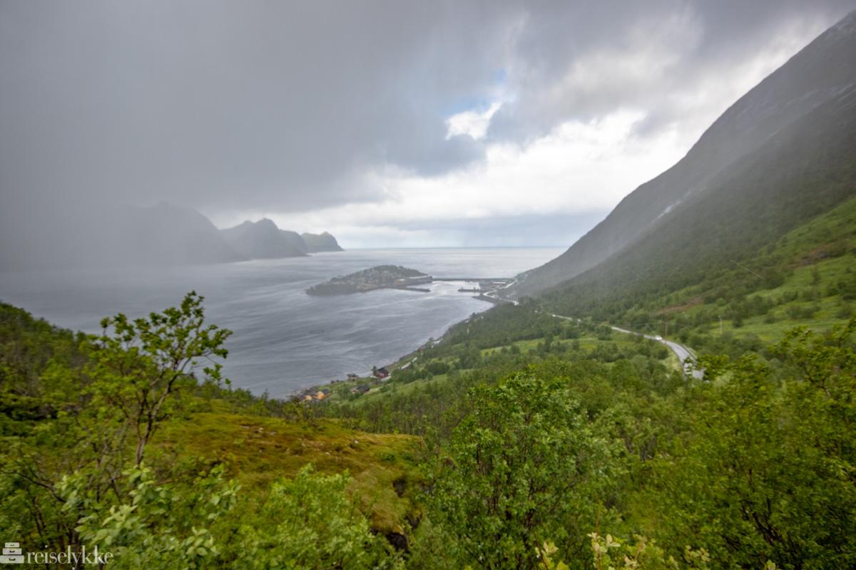 Utsikt mot Husøy i tåkehavet