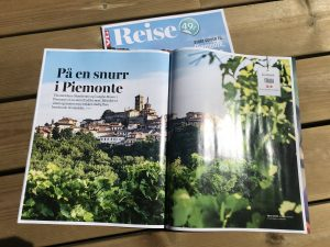 5 siders artikkel fra Piemonte i VG Reise. Tekst og foto: Mette S. Fjeldheim, Reiselykke