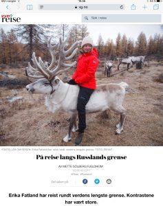 Intervju med Erika Fatland om reisen rundt Russland i VG_Levert av Mette S. Fjeldheim - Reiselykke