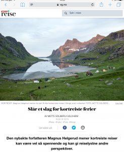 Intervju med Magnus Helgerud om kortreiste ferier i VG_Levert av Mette S. Fjeldheim - Reiselykke