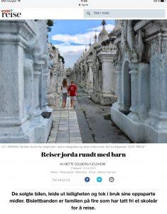 Intervju med familie om et år på reise i VG_Levert av Mette S. Fjeldheim - Reiselykke