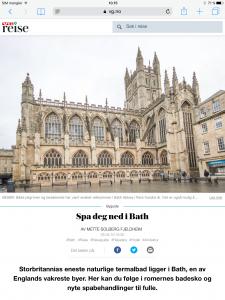 Reiseartikkel om Bath i VG_Levert av Mette S. Fjeldheim - Reiselykke