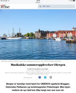 Reiseartikkel om Bergen i VG_Levert av Mette S. Fjeldheim - Reiselykke