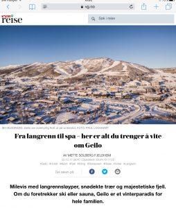 Reiseartikkel om Geilo i VG_Levert av Mette S. Fjeldheim - Reiselykke