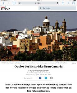 Reiseartikkel om Gran Canaria i VG_Levert av Mette S. Fjeldheim - Reiselykke