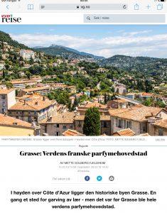 Reiseartikkel om Grasse i VG_Levert av Mette S. Fjeldheim - Reiselykke