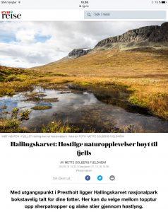 Reiseartikkel om Hallingskarvet i VG_Levert av Mette S. Fjeldheim - Reiselykke
