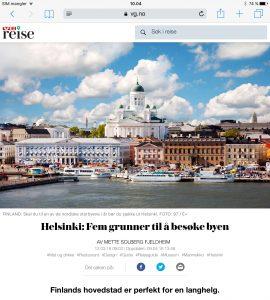 Reiseartikkel om Helsinki i VG_Levert av Mette S. Fjeldheim - Reiselykke