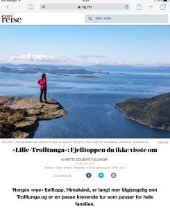 Reiseartikkel om Himakånå i VG_Levert av Mette S. Fjeldheim - Reiselykke