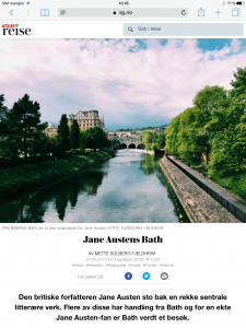 Reiseartikkel om Jane Austen og Bath i VG_Levert av Mette S. Fjeldheim - Reiselykke