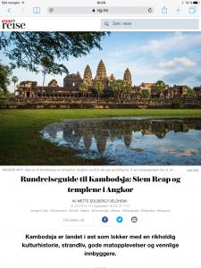 Reiseartikkel om Kambodsja i VG_Levert av Mette S. Fjeldheim - Reiselykke