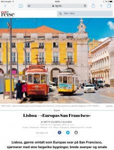 Reiseartikkel om Lisboa i VG_Levert av Mette S. Fjeldheim - Reiselykke