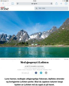 Reiseartikkel om Lofoten i VG_Levert av Mette S. Fjeldheim - Reiselykke