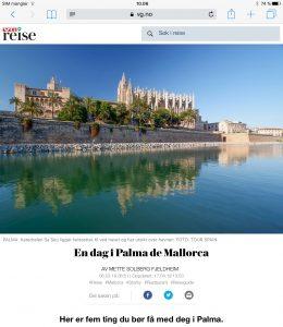 Reiseartikkel om Palma på Mallorca i VG_Levert av Mette S. Fjeldheim - Reiselykke