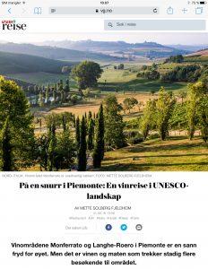 Reiseartikkel om Piemonte i VG_Levert av Mette S. Fjeldheim - Reiselykke