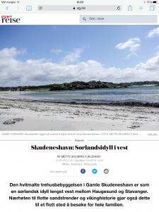 Reiseartikkel om Skudeneshavn i VG_Levert av Mette S. Fjeldheim - Reiselykke