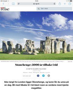 Reiseartikkel om Stonehenge i VG_Levert av Mette S. Fjeldheim - Reiselykke