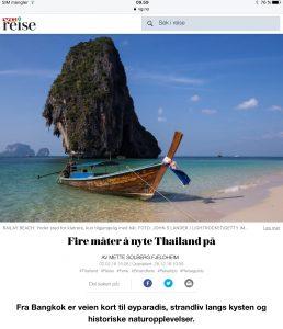 Reiseartikkel om Thailand i VG_Levert av Mette S. Fjeldheim - Reiselykke