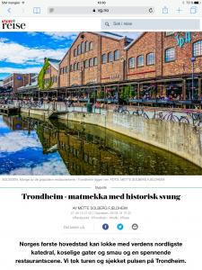 Reiseartikkel om Trondheim i VG_Levert av Mette S. Fjeldheim - Reiselykke