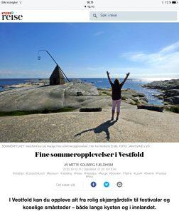 Reiseartikkel om Vestfold i VG_Levert av Mette S. Fjeldheim - Reiselykke