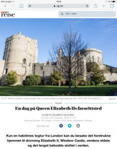Reiseartikkel om Windsor i VG_Levert av Mette S. Fjeldheim - Reiselykke
