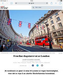 Reiseartikkel om dagsturer ut av London i VG_Levert av Mette S. Fjeldheim - Reiselykke