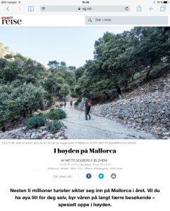 Reiseartikkel om fjelltur på Mallorca i VG_Levert av Mette S. Fjeldheim - Reiselykke