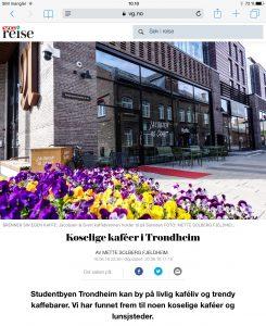 Reiseartikkel om kaféer i Trondheim i VG_Levert av Mette S. Fjeldheim - Reiselykke