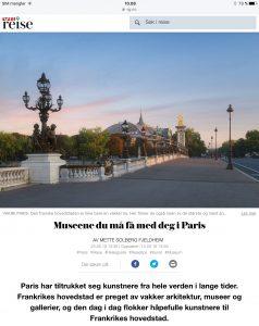 Reiseartikkel om museene i Paris i VG_Levert av Mette S. Fjeldheim - Reiselykke
