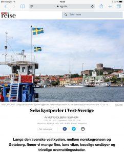 Reiseartikkel om svenskekysten i VG_Levert av Mette S. Fjeldheim - Reiselykke