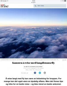 Tips til den lange flyreisen i VG_Levert av Mette S. Fjeldheim - Reiselykke