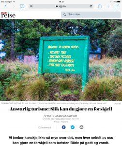 Tips til en mer ansvarlig reise i VG_Levert av Mette S. Fjeldheim - Reiselykke