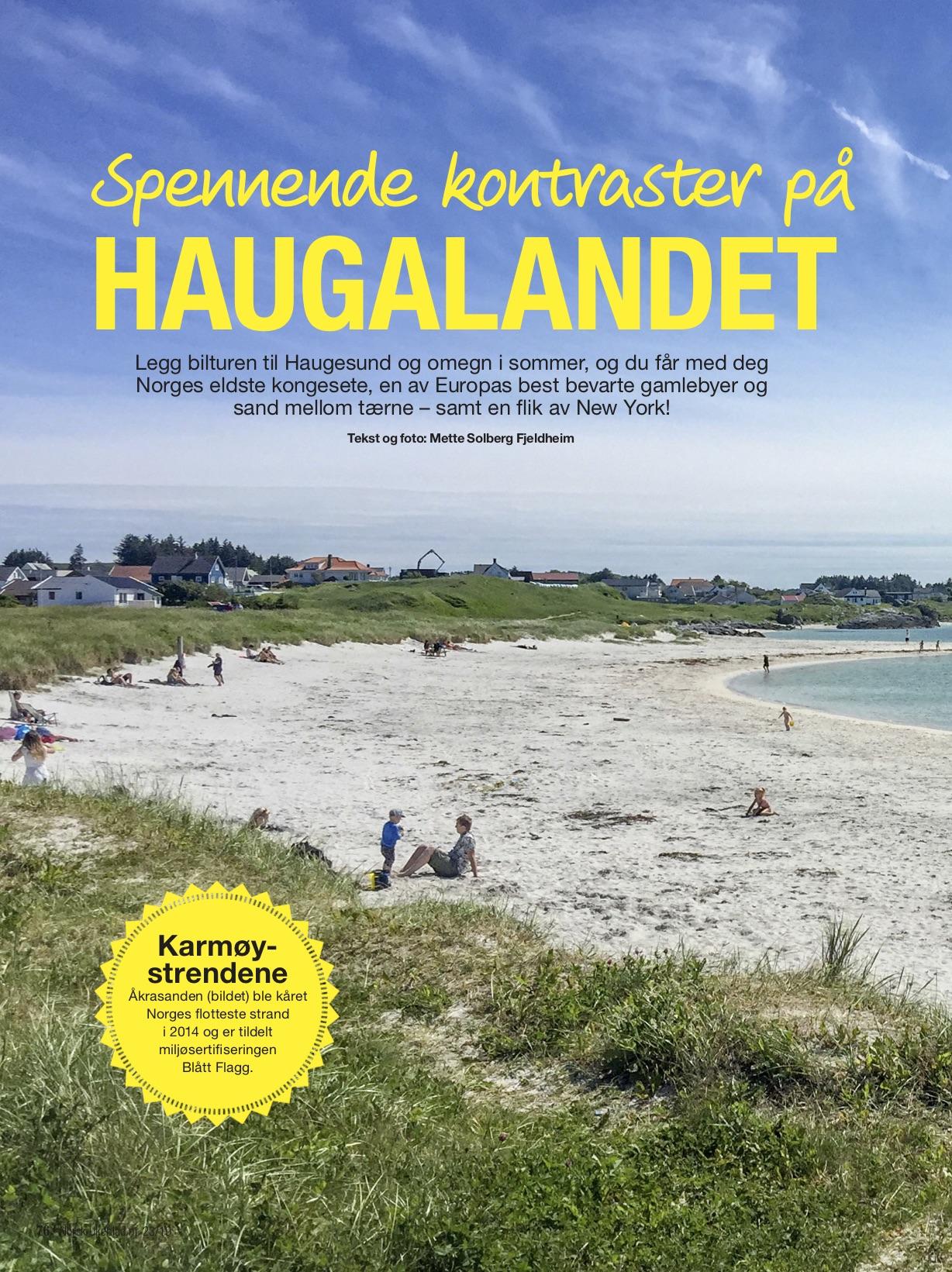 Haugalandet i Norsk Ukeblad s.1