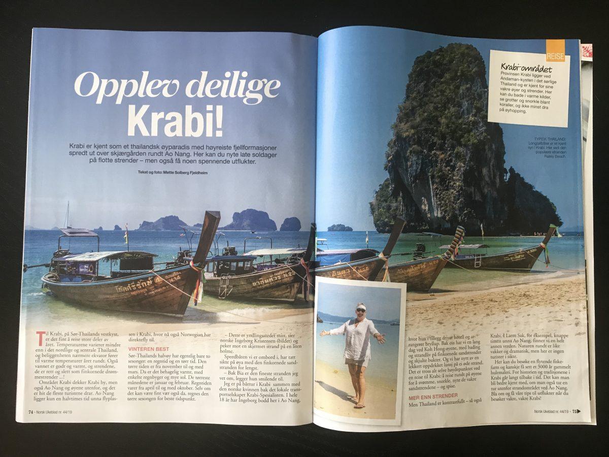 Norsk Ukeblad_Artikkel om Krabi levert av Reiselykke s. 1 og 2