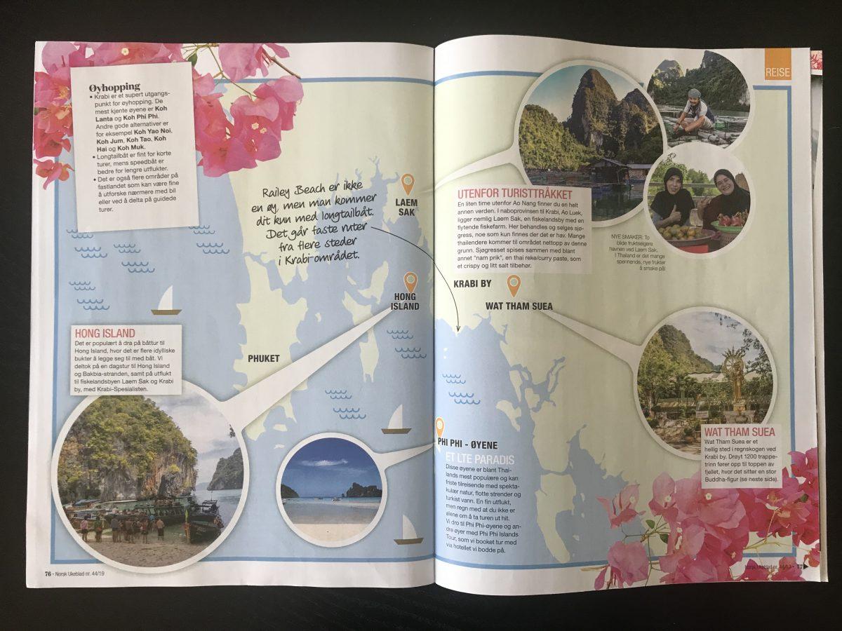 Norsk Ukeblad_Artikkel om Krabi levert av Reiselykke s. 3 og 4