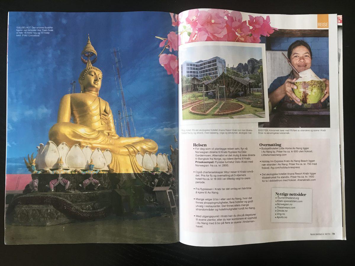 Norsk Ukeblad_Artikkel om Krabi levert av Reiselykke s. 5 og 6