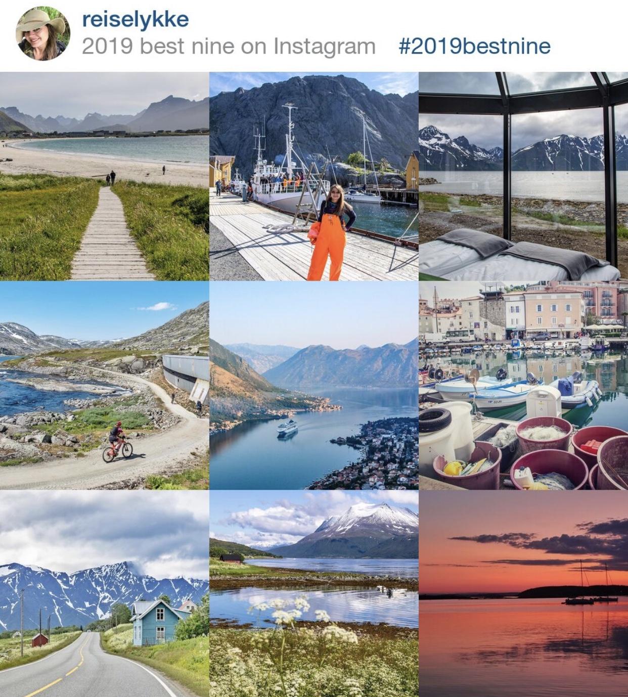 Instagram best nine Reiselykke 2019